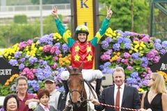 Douglas Whyte win! Stock Photos
