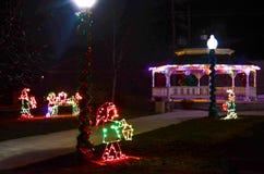 Douglas Wyoming Christmas Lights 1 Royaltyfria Bilder