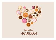 Dougnut de Jánuca, símbolo judío del día de fiesta tradicionales dulces cuecen