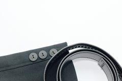 Douille et ceinture noires de costume Photos stock