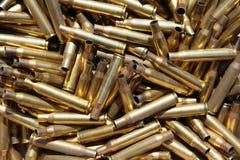 Douilles de munitions épuisées Photographie stock libre de droits