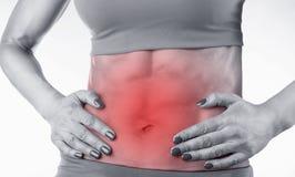 Douleur abdominale Photos libres de droits