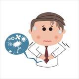 Douleur abdominale d'homme Illustration Stock