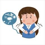 Douleur abdominale de femme Illustration Stock