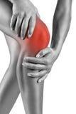 Douleur aiguë dans le genou image stock
