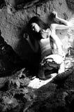 douleur blanche de jeune femme Photos libres de droits