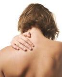 Douleur cervicale photographie stock libre de droits