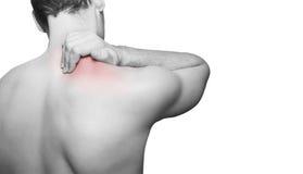 Douleur cervicale de dos/ Photographie stock libre de droits
