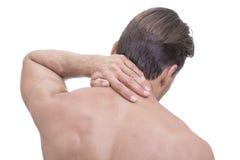Douleur cervicale sportive images stock