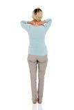 Douleur cervicale supérieure de femme Photos stock