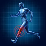 Douleur commune de genou de turbine humaine de thérapie médicale Photos stock