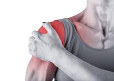 Douleur d'épaule Image libre de droits