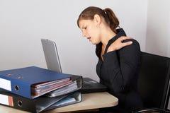 Douleur dans le cou Photographie stock libre de droits