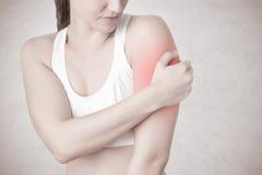 Douleur de bras photographie stock libre de droits
