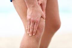 Douleur de genou Photos libres de droits