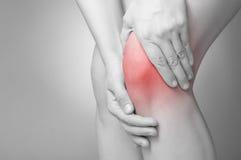 Douleur de genou Photographie stock