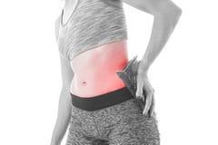 Douleur de hanche photo stock