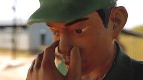 Douleur de la mort de camp de concentration souffrant Phu Quoc banque de vidéos