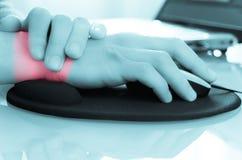 Douleur de poignet/tunnel de carpal photos libres de droits