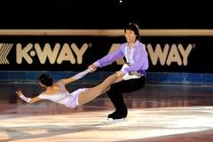 Douleur de Qing et pinces de Jian à la récompense d'or du patin 2011 Images stock