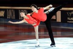 Douleur de Qing et pinces de Jian à la récompense d'or du patin 2011 Image stock