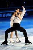 Douleur de Quing et pinces de Jian à la récompense d'or du patin 2011 Photos stock