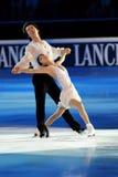 Douleur de Quing et pinces de Jian à la récompense d'or du patin 2011 Photos libres de droits