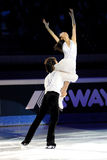 Douleur de Quing et pinces de Jian à la récompense d'or du patin 2011 Photo stock