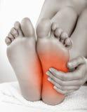 Douleur de talon Photographie stock libre de droits