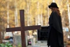 Douleur de veuve Photo libre de droits