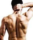 Douleur dorsale de cou photo stock