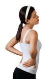 Douleur dorsale - fatiguée Images libres de droits