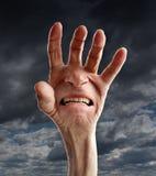 Douleur et souffrance supérieures Photographie stock libre de droits