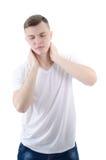 douleur et symptômes Photo stock