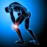 Douleur masculine de genou illustration de vecteur