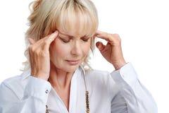 Douleurs de mal de tête photo libre de droits