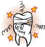 Douloureux a vu l'illustration de dent Images stock