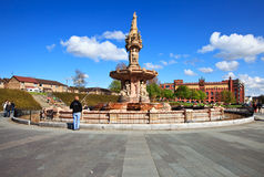 The Doulton Fountain in Glasgow Stock Photo