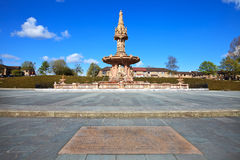 The Doulton Fountain in Glasgow Stock Photography