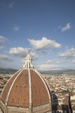 Doumo Cathedral Church Dome and View of City, Florence Stock Photography