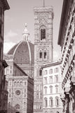 Doumo Cathedral Church Facade, Florence, Stock Images