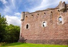 Doune Grodowa Zewnętrzna ściana Stirling Szkocja UK Zdjęcia Royalty Free