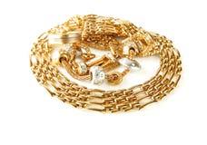 Dourado accessorise Foto de Stock