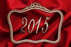 2015 dourado em um quadro antigo Fotos de Stock Royalty Free
