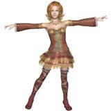 Dourado - party girl de cabelo Imagens de Stock Royalty Free
