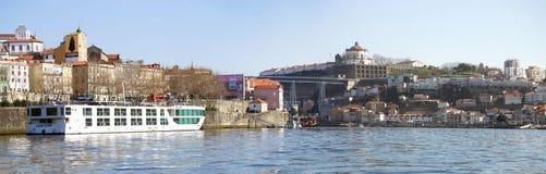 Douro brzeg rzeki - Porto, Portugalia Obrazy Royalty Free