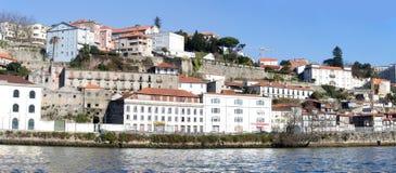 Douro brzeg rzeki - stary Porto, Portugalia Fotografia Royalty Free