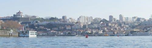 Douro brzeg rzeki - Vila Nova De Gaia, Portugalia Obraz Royalty Free
