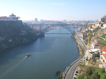 Douro flod i Porto Arkivbild
