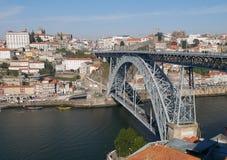 Douro flod i Porto Arkivbilder